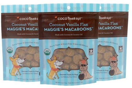 Coco Therapy Maggie's Macaroons Coconut Vanilla Flax Dog Treats - Grain Free
