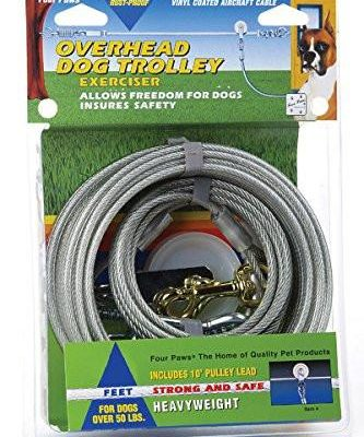 Four Paws Heavy Weight Overhead Trolley Exerciser Line for Dogs