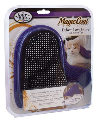 Four Paws Magic Coat Cat Grooming Deluxe Love Glove with Tender Tips