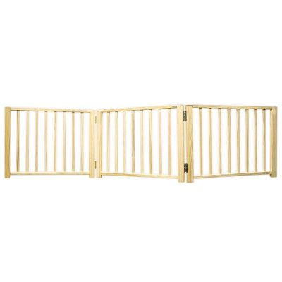 Four Paws Wood Folding 3 Panel Dog Gate