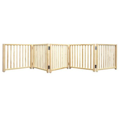 Four Paws Wood Folding 5 Panel Dog Gate