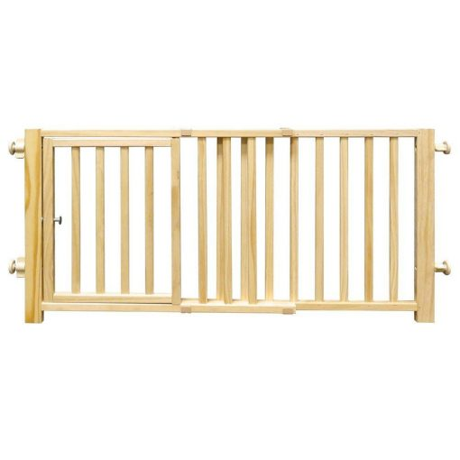 Four Paws Wood Walk Over Gate with Door