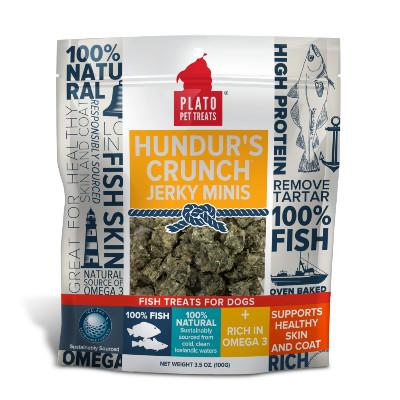 buy Plato-Pet-Treats-Hundurs-Crunch-Jerky-Minis-Fish-Chews-for-Dogs