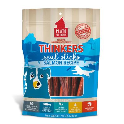 buy Plato-Pet-Treats-Thinkers-Salmon-Dog-Chews