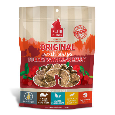 buy Plato Pet Treats Turkey And Cranberry Meat Bar For Dogs