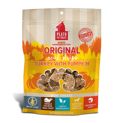 buy Plato-Pet-Treats-Turkey-With-Pumpkin-Meat-Bar-For-Dogs