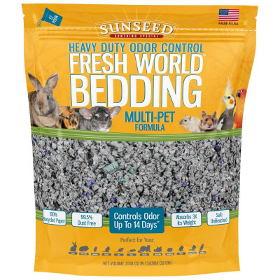buy Sunseed Fresh Heavy Duty World Bedding Multi-Pet Formula For Small Animals