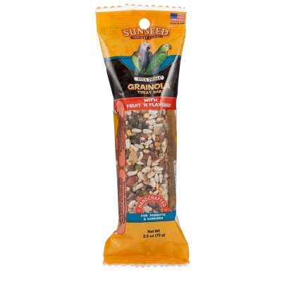 Vitakraft Grainola Fruit and Flaxseed Treat Bar for Birds