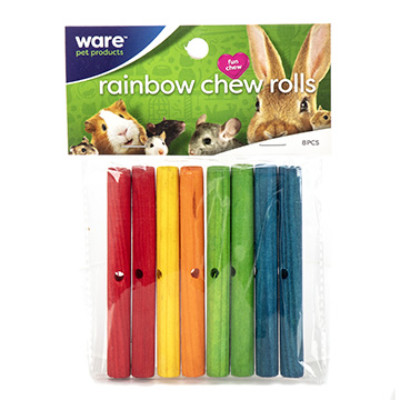 buy Ware-Carnival-Crops-Rainbow-Chews-or-Rolls-8-Pieces-For-Small-Animals