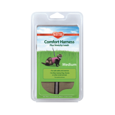 Kaytee Comfort Harness and Stretchy Leash for Small Animals