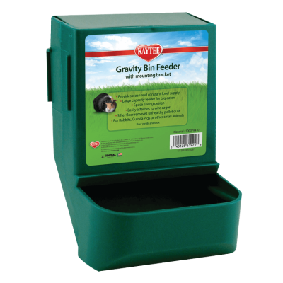 Kaytee Gravity Bin Feeder with Bracket for Small Animals