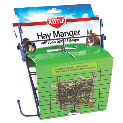 Kaytee Hay Manger Small Animal Feeder with Salt Hanger