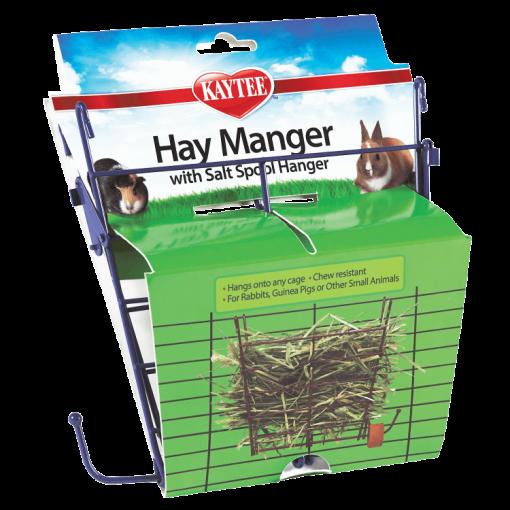 Kaytee Hay Manger Small Animal Feeder with Salt Hanger