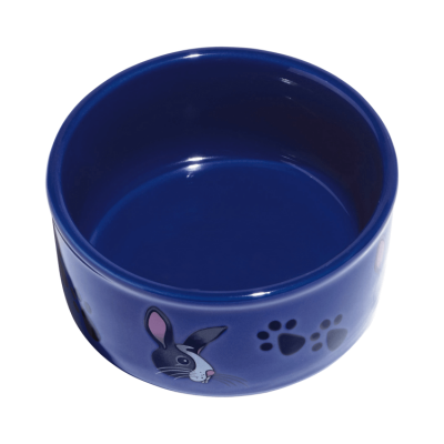 Kaytee Pawprint Petware Rabbit Silhouette Small Animal Feeding Dish