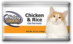 Nutri Source Chicken and Rice Canned Cat Food for All Ages