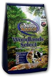 Nutri Source Grain Free Woodlands Select Dry Dog Food for All Life Stages