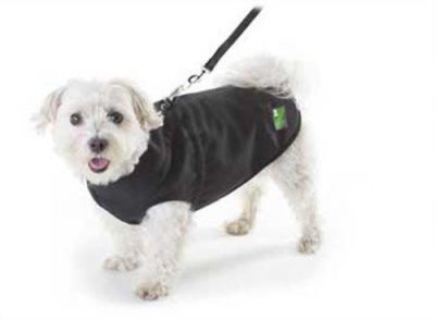 Pawz All Weather Dog Coat with Harness - Black