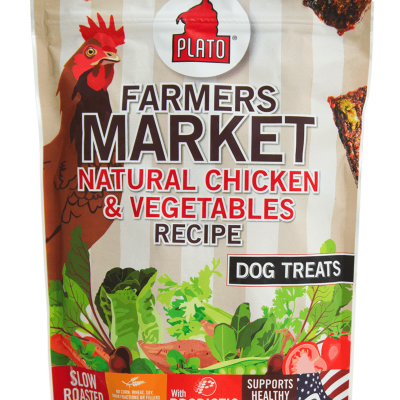 Plato Pet Treats Farmers Market Chicken and Vegetable Dog Chews