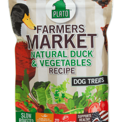 Plato Pet Treats Farmers Market Duck and Vegetable Dog Chews