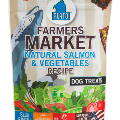 Plato Pet Treats Farmers Market Salmon and Vegetable Dog Chews