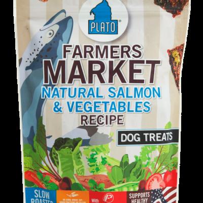 Plato Pet Treats Farmers Market Salmon and Vegetable Dog Chews