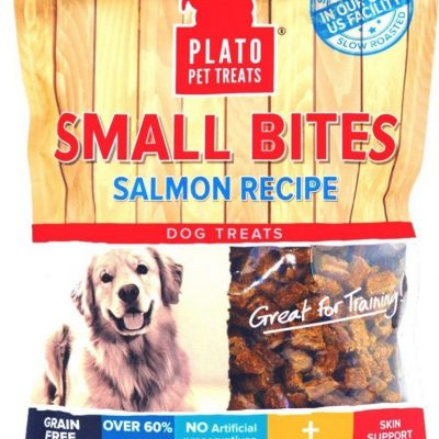 Plato Pet Treats Small Bites Salmon Chews for Dogs