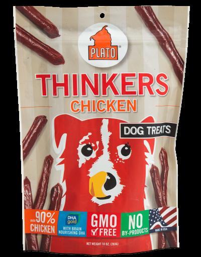 Plato Pet Treats Thinkers Chicken Dog Chews