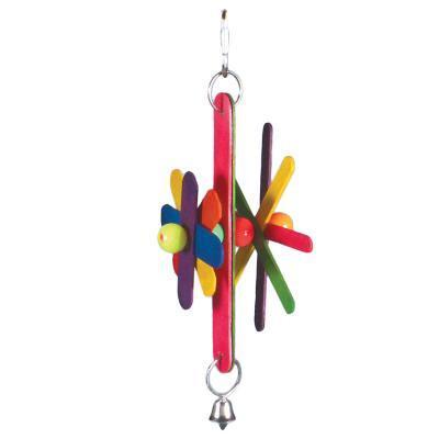 Prevue Hendryx Birdie Basics Stick Stax Bird Cage Toys - Pinwheel