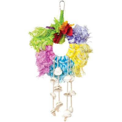 Prevue Hendryx Calypso Creations Ropes and Shell Ring Bird Cage Toy