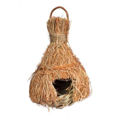 Prevue Hendryx Tiki Hut Finch Nesting House for Bird Cages