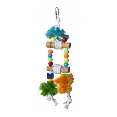 Prevue Hendryx Tropical Teasers Blue Hawaii Bird Cage Toy