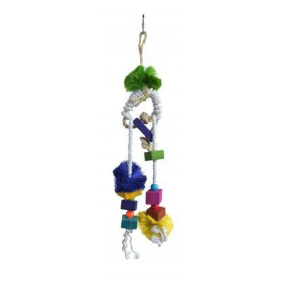 Prevue Hendryx Tropical Teasers Mai Tai Bird Cage Toy