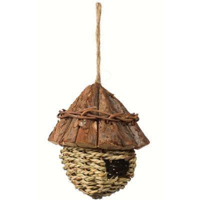 Prevue Hendryx Wood Roof Bird Nest for Indoor or Outdoor Birds