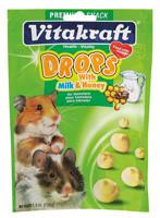 Vitakraft Hamster Drops Milk and Honey Treats