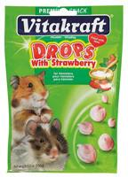Vitakraft Hamster Drops Strawberry Treats