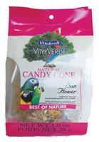 Vitakraft VitaVerde Natural Candy Cone Treat for Birds - Sun Flower