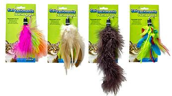 Ware Cattachment Cat Toy Feathers