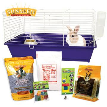 Ware Home Sweet Home Sunseed Rabbit Cage and Starter Kit