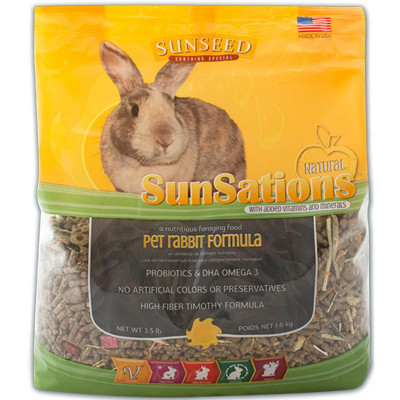 buy sunseed-sunsations-natural-pet-rabbit-formula