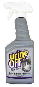 Urine Off Cat and Kitten Stain and Odour Remover with Spray Bottle