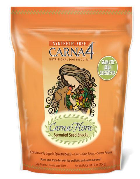 Carna4 CarnaFlora Sprouted Seed Snacks Grain Free Dog Treats