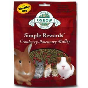 Buy Oxbow Simple Rewards Cranberry and Rosemary Medley Treats online from Canada