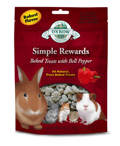 Oxbow Simple Rewards Baked Treats for Small Animals - Bell Pepper