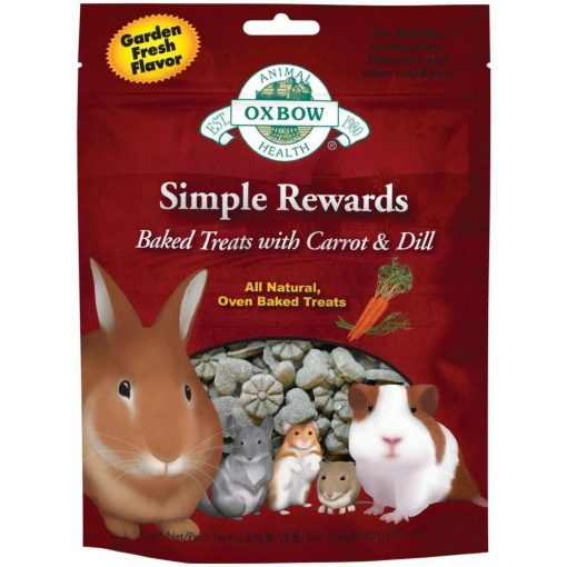 Oxbow Simple Rewards Baked Treats for Small Animals - Carrot and Dill