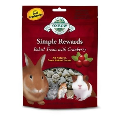 Oxbow Simple Rewards Baked Treats for Small Animals - Cranberry