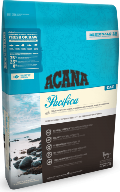Buy Acana Regionals Pacifica Adult Cat and Kitten Dry Food online from our warehouse in Canada at Canadian Pet Connection