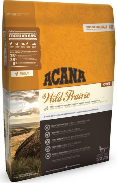 Buy Acana Regionals Wild Prairie Adult Cat and Kitten Dry Food online from our warehouse in Canada