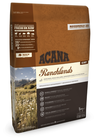 ACANA REGIONALS Ranchlands Adult Cat and Kitten Food for All Ages - Grain Free