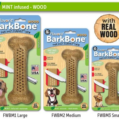 Pet Qwerks Flavorit Wood Dog Bone