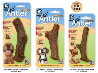 Pet Qwerks Flavorit Smoked Cheese and Wood Antler for Dogs
